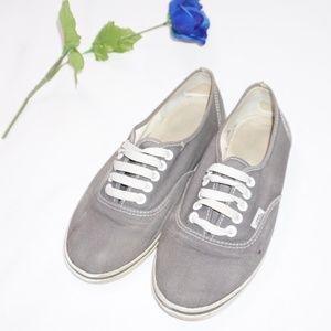 VANS Gray Sneakers, Size Women's 8/Men's 6.5